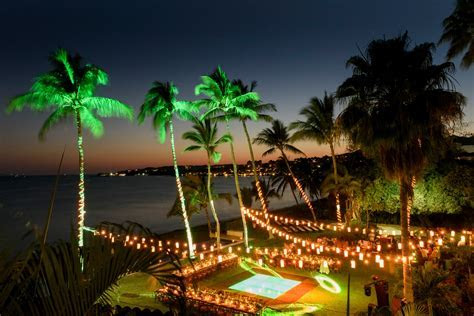 Spotlights are fun and make the weddings pop at night. Is