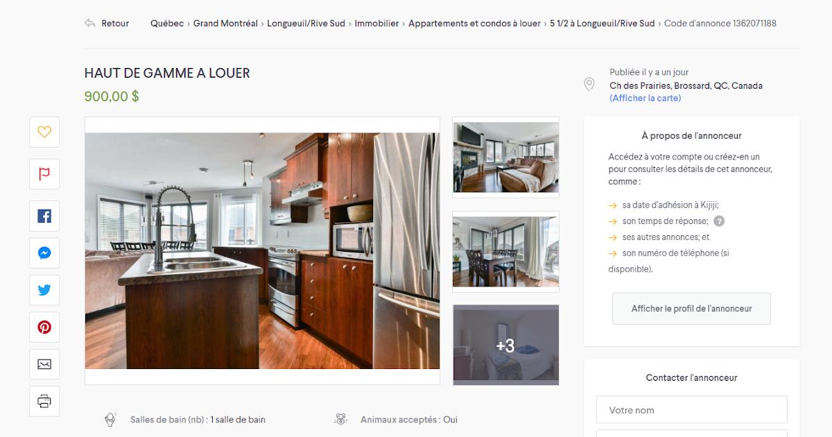 appartement à louer: Appartement A Louer Rive Sud Quebec