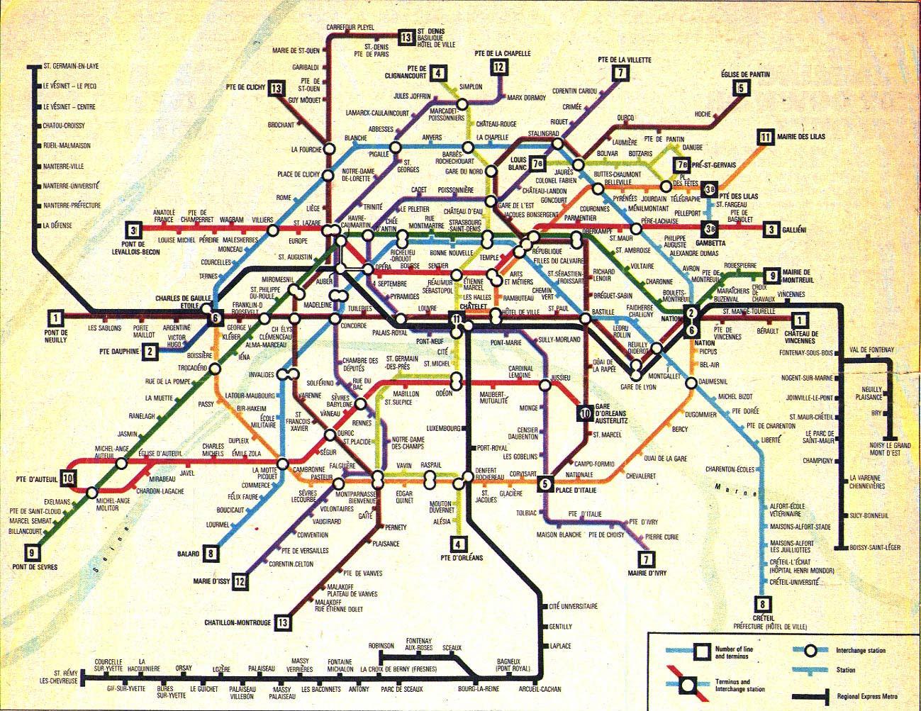 Paris Metro Paris Rer Trains In Paris