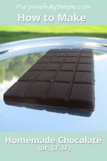 Featured on the Homestead Blog Hop - How-to-Make-Homemade-Chocolate-Purposefully-Simple