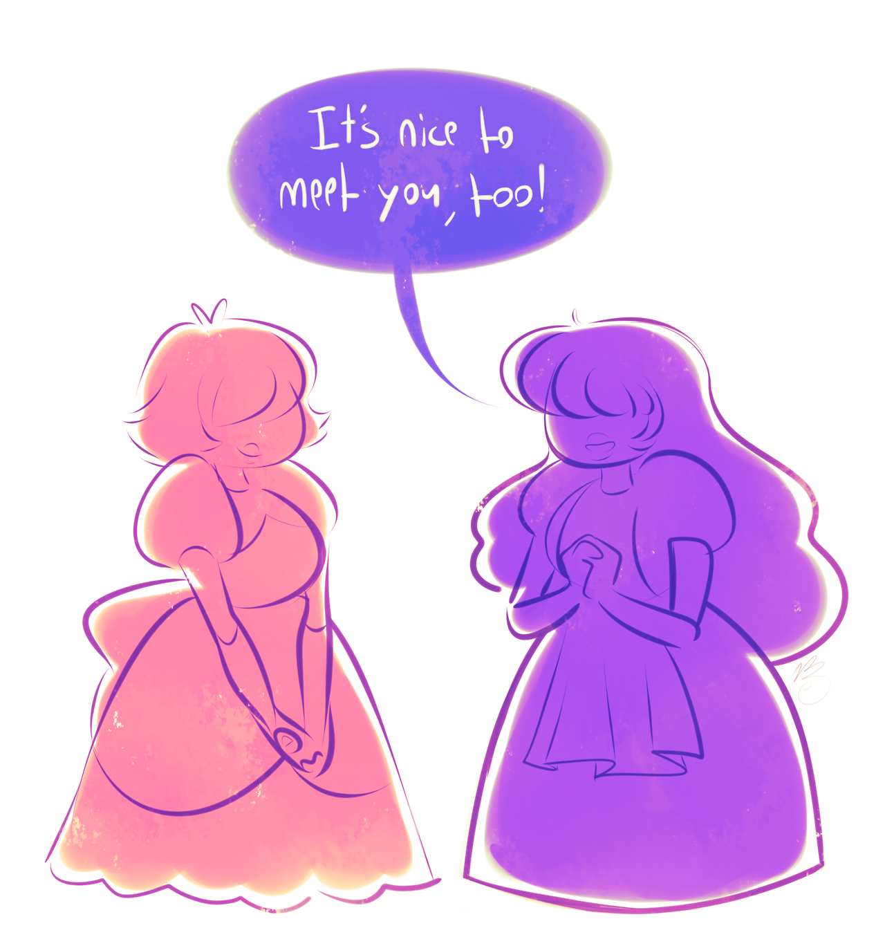 sapphire would probably b so patient w/ padparadscha cuz she can forsee that pad will catch up eventually, but their conversations would end up structured so weirdly lmao