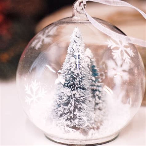 Glass hanging christmas tree decoration bauble filled with