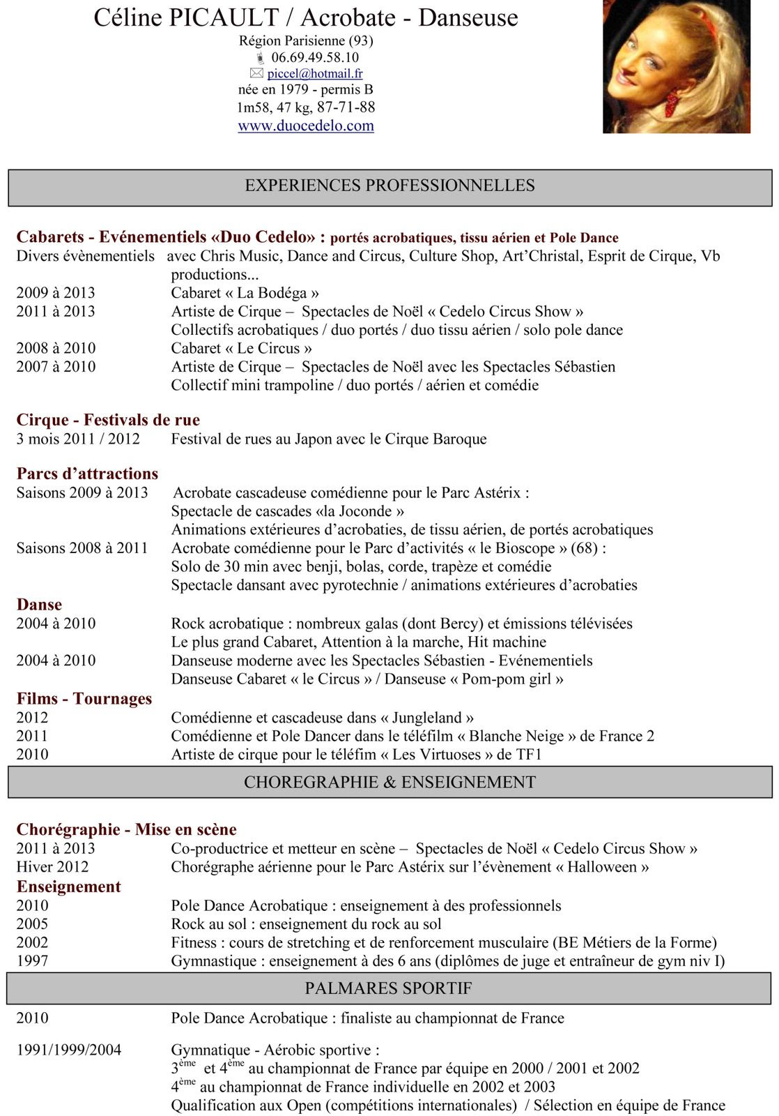 resume format  cv enseignant primaire exemple