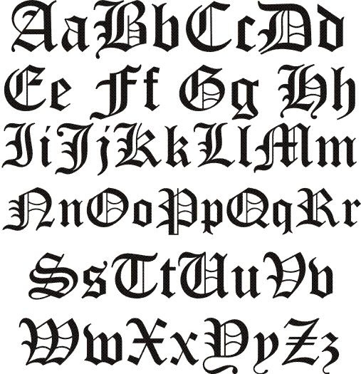 1000+ ideas about Old English Font on Pinterest | Calligraphy ...