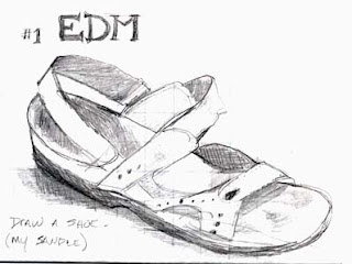 summer shoes sketch