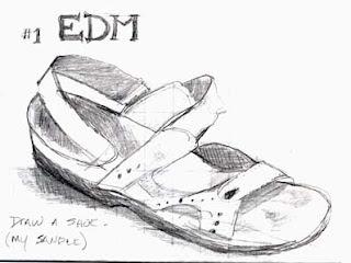 summer shoes sketch