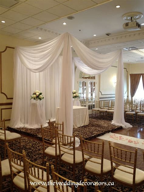 Ceremony draping, canopy, chuppah. small drapery setting