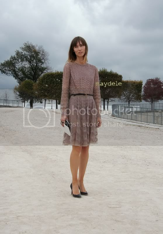 Anya Ziourova wearing a Valentino dress