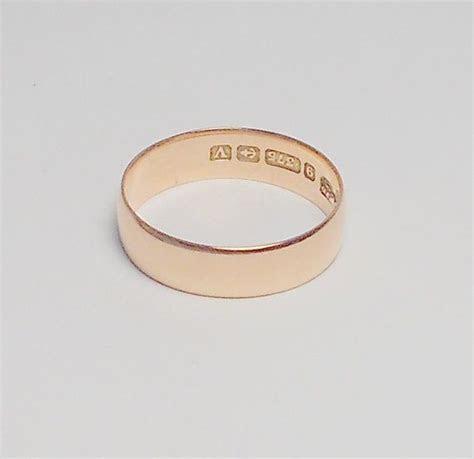 Art Deco Rose Gold Wedding Band / 9kt Rose Gold