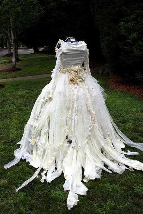 Tattered Victorian Steampunk Fairy dress set, Wedding Gown