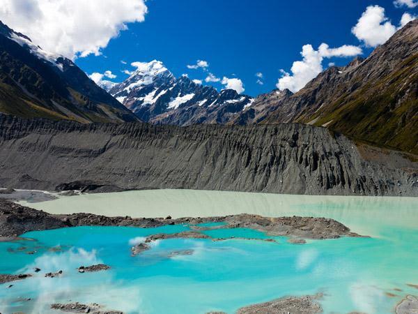 9. Le Mont Cook, dans les Alpes Néozélandaise