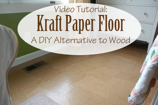DIY-paper-floor