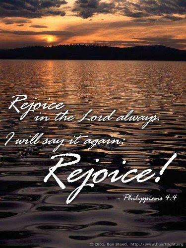Inspirational illustration of Philippians 4:4