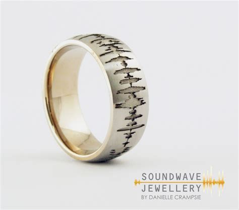 Men?s Custom Soundwave Ring   Soundwave Jewellery