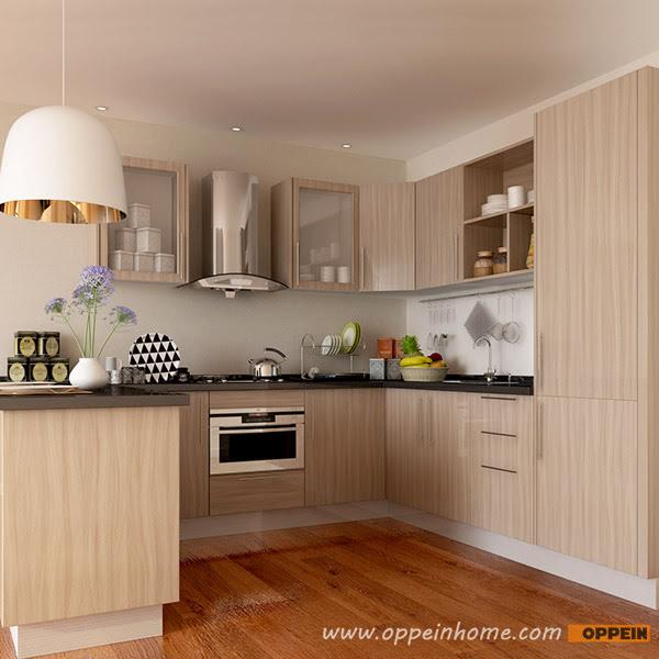 OPPEIN Kitchen in africa » OP15-M11: Modern Wood Grain ...