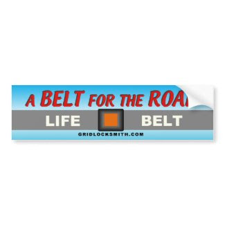 A BELT for the ROAD bumpersticker