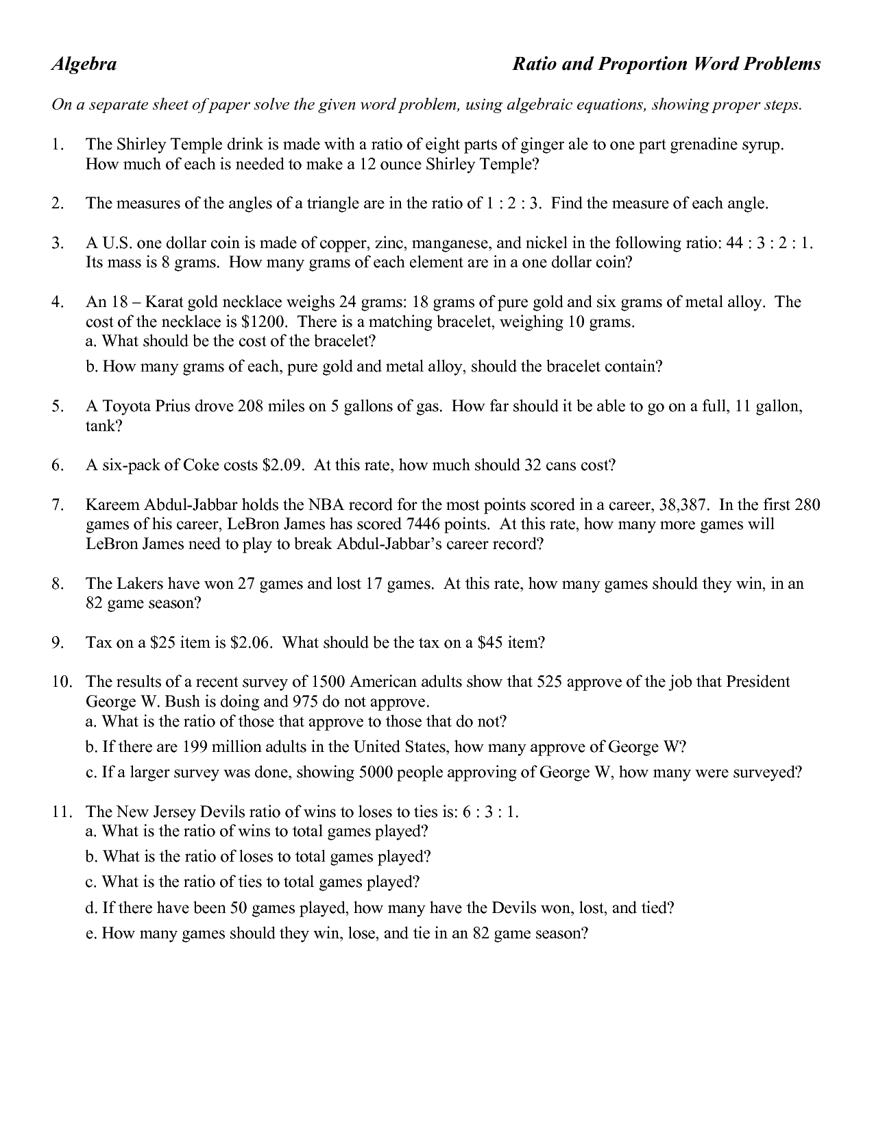 8 Best Images of Ratios 6th Grade Math Word Problems Worksheet  6th Grade Ratio Word Problems