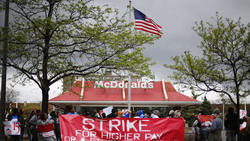 Fast-food workers' minimum-wage protests go global