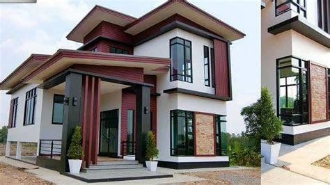 desain rumah modern minimalis  lantai  denahnya