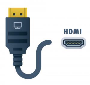 connecting a laptop via HDMI connector