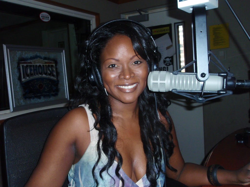 Abiola Abrams in the Sirius Studio