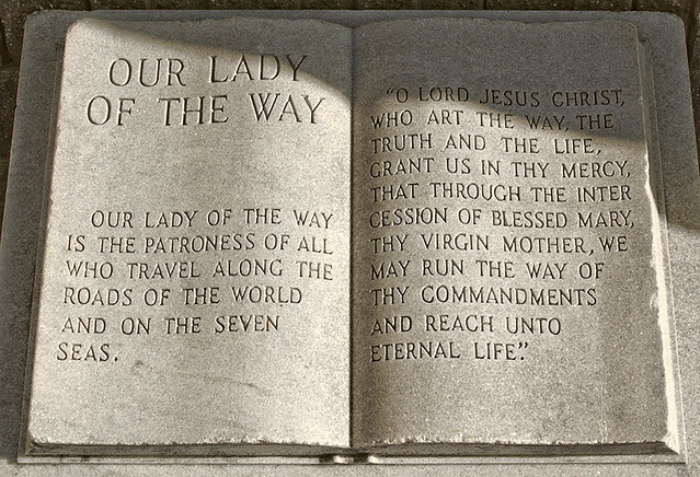 Shrine of Our Lady of the Way, in Saint Peters, Missouri, USA - inscription