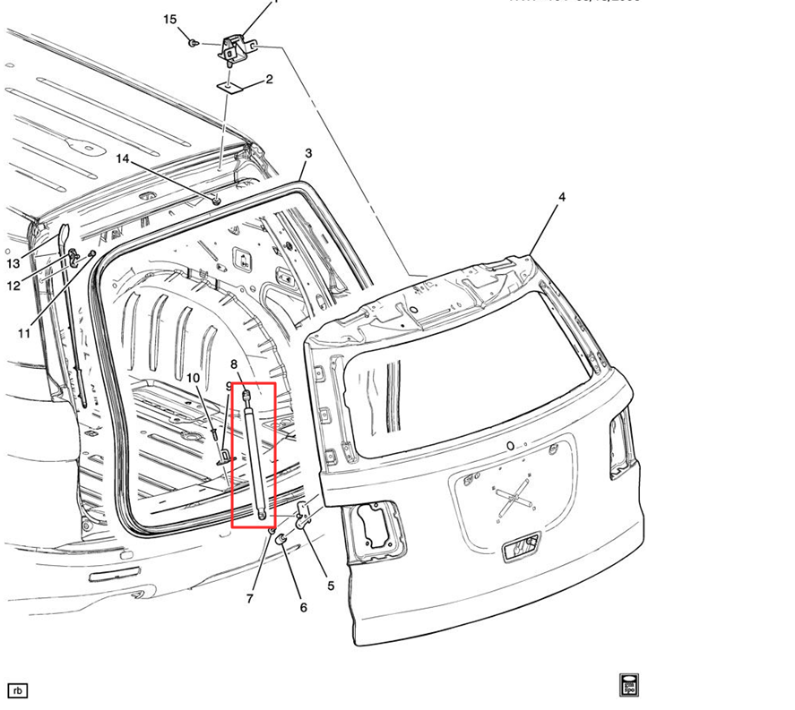 GMC liftgate assembly parts