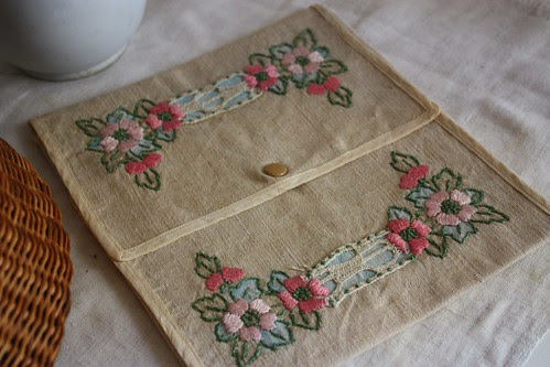 Embroidered holder