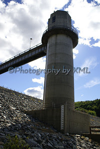the dam tower in the flood zone
