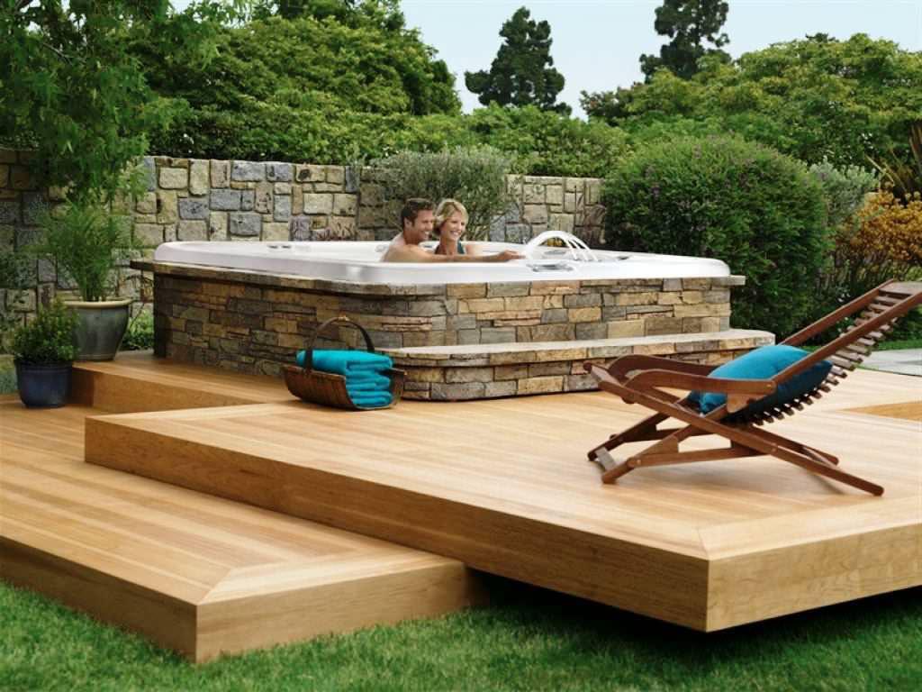 Backyard hot tub ideas - large and beautiful photos. Photo to
