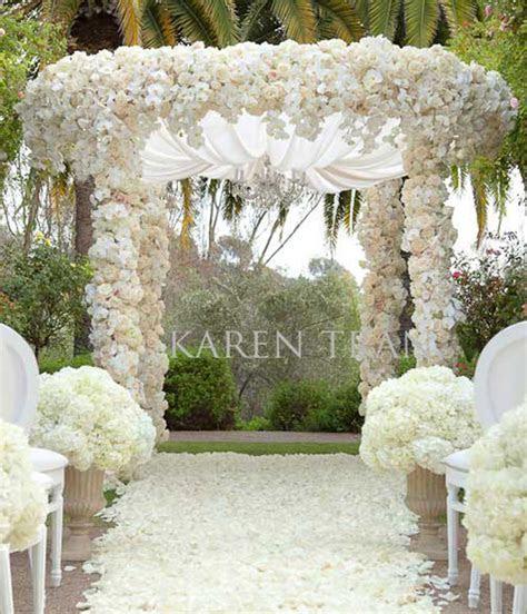 Indoor Wedding Ceremony Elegant Arch Decorations Archives