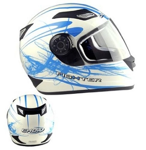 casque moto int gral chok fighter 2011 blanc bleu taille xl sport automobile casques. Black Bedroom Furniture Sets. Home Design Ideas