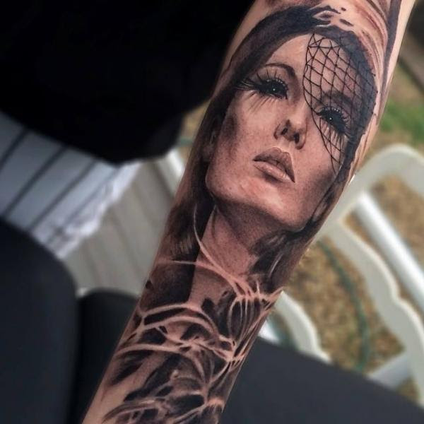 Asian Girl Face Realistic Tattoo By Jak Connolly Best Tattoo Ideas