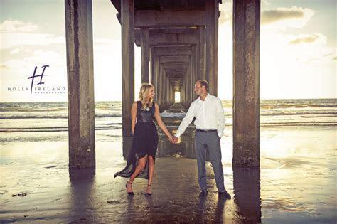 Scripps Pier La Jolla Sunset engagement shoot