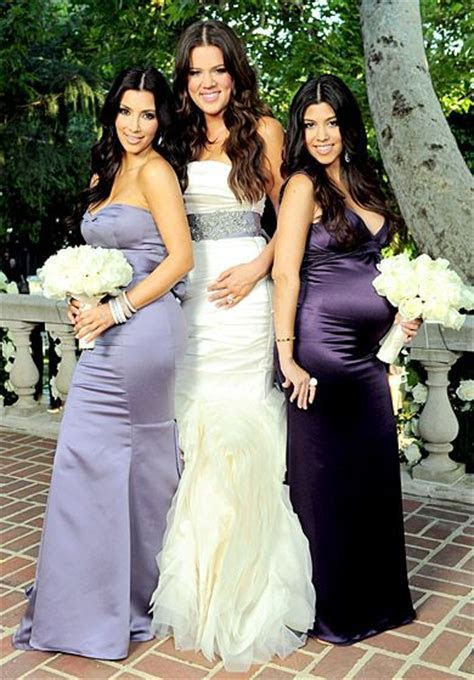 Celebrity Bridesmaids ? See Their Dresses!   Kim
