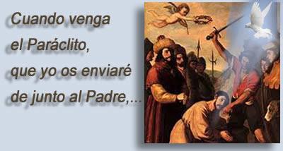 Resultado de imagen de Comentario «CUANDO VENGA EL PARÁCLITO, QUE YO OS ENVIARÉ...» (Jn 15, 26).