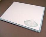 Shells - assorted set of 4 flat handmade cards