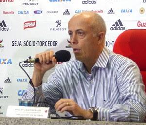 Wallim Coletiva Flamengo (Foto: Thiago Benevenutte)