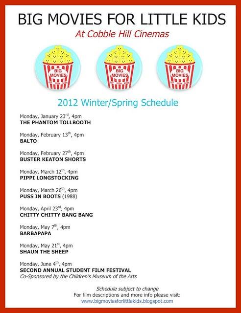 2012 Winter_Spring schedule