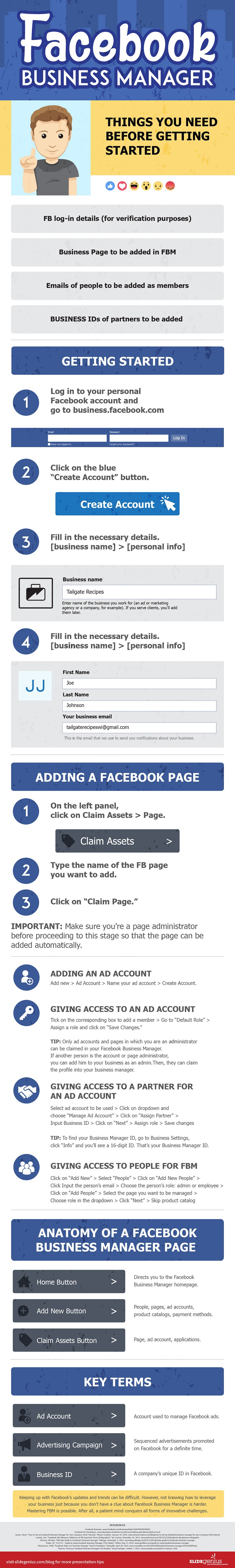 A Step-by-Step Guide to Facebook Business Manager - infographic
