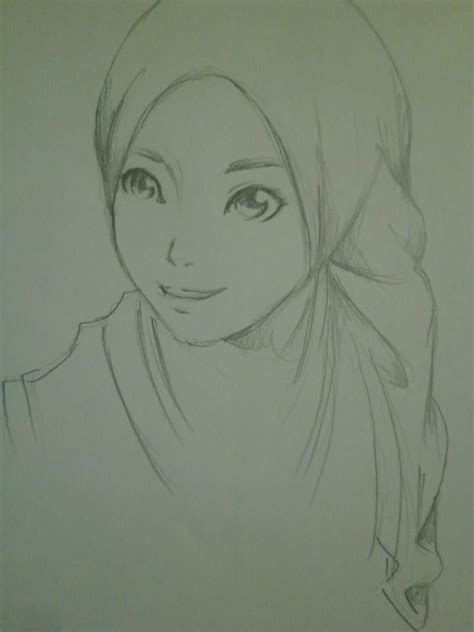 hijab style pencil drawing hijab anime pinterest