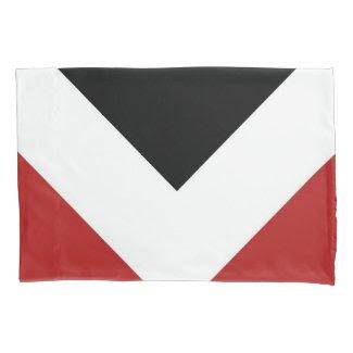 Red, White, Black Diamond Pattern Pillowcase