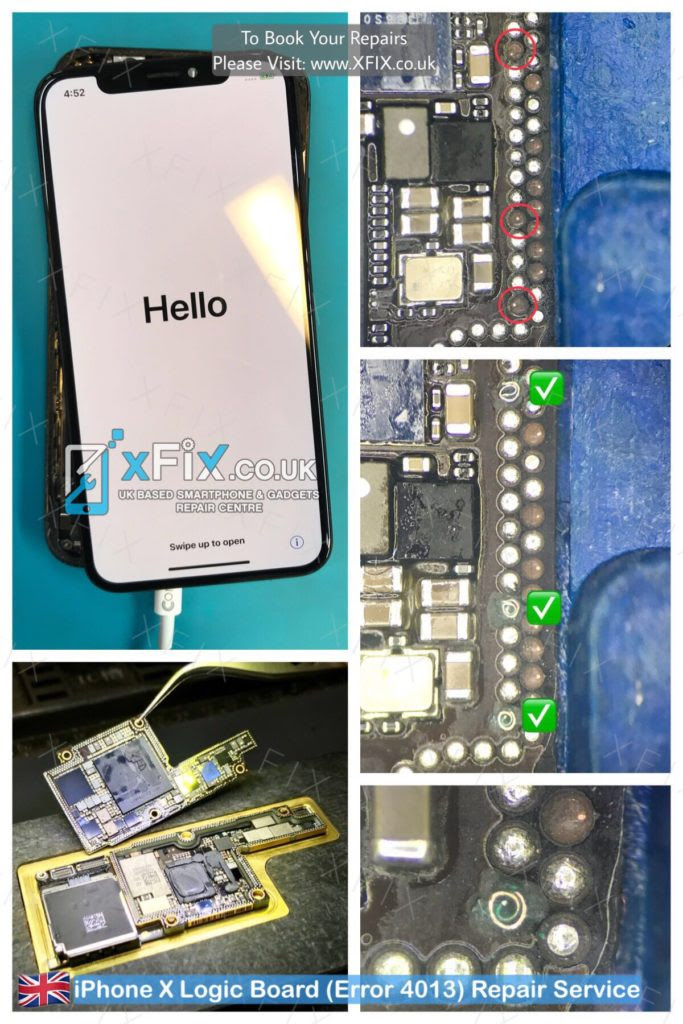Fix iPhone X Logic Board\/ Error 4013 After Dropped  xFix