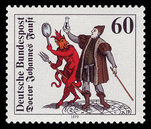 Johannes Faust with Homunculus, Mephistopheles