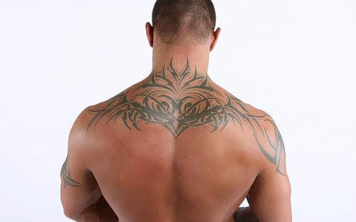 Randy Orton Upper Back Tattoo Design Tattoomagz