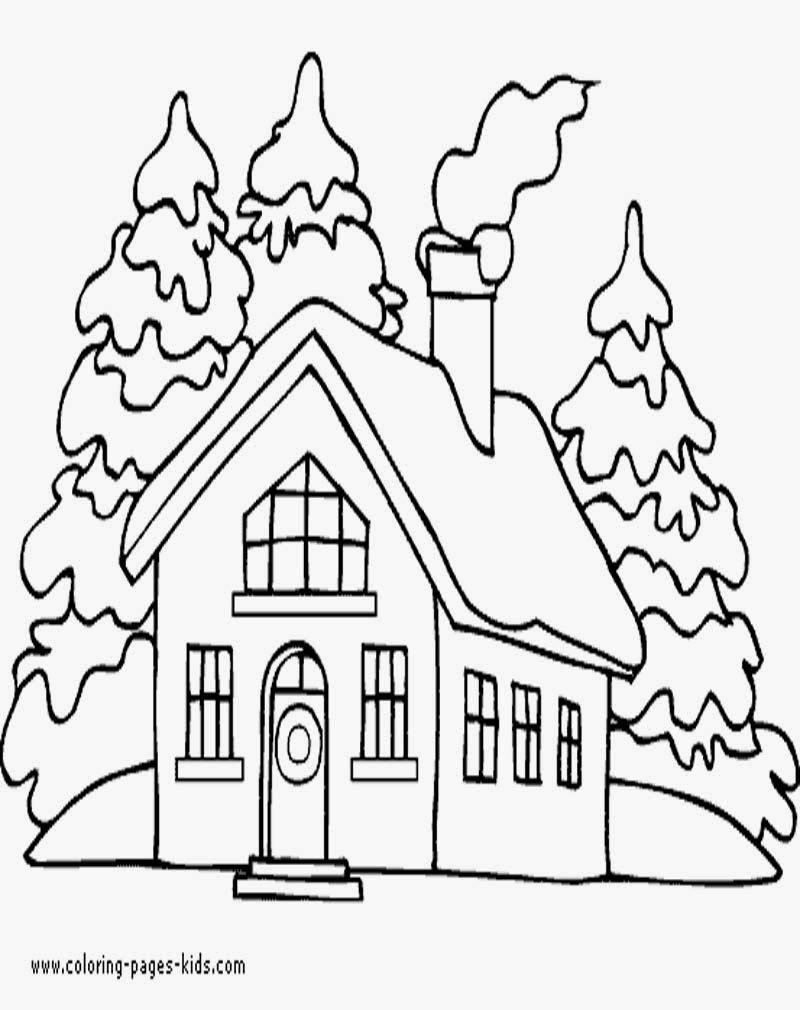 Gambar Mewarnai Gambar Rumah Paud Tk Sd Mi Sketsa Anak Di Auto