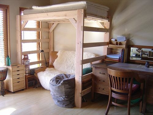 DIY Project: How to Make a Loft Bed for Your Dorm Room   HomeJelly