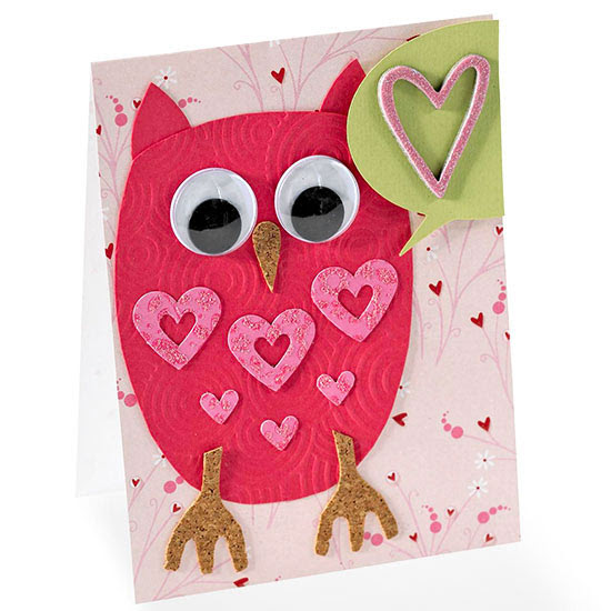 Owl Heart Valentine Card