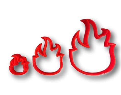 Fire Flame Cookie Cutter ? Arbi Design   CookieCutz
