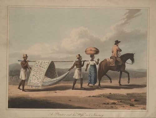 A Planter and his Wife on a Journey - Travels in Brazil  -  Henry Koster, 1816